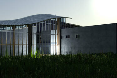 Culture center in Opoczno visualisation by wielkiolkus