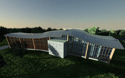 Culture center in Opoczno visualisation 5 by wielkiolkus