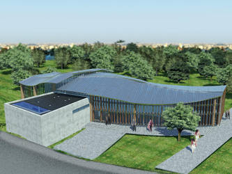 Culture center in Opoczno visualisation  8 by wielkiolkus