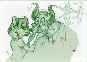 Reba and Francis. by FortunataFox
