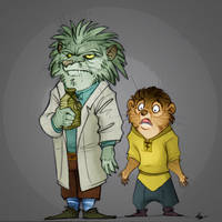 Rick and Morty - some redwallisation by FortunataFox