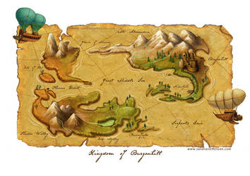 Snow White - world map by SandraKristin