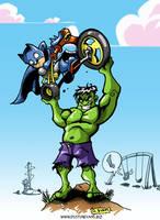 Marvel Vs. DC babies by DustinEvans