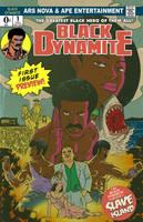 Black Dynamite promo colors by DustinEvans