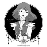 Sailor #inktober. #SailorSaturn by mornie-art