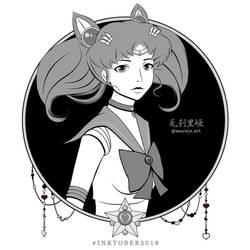Sailor #Inktober #Chibimoon by mornie-art