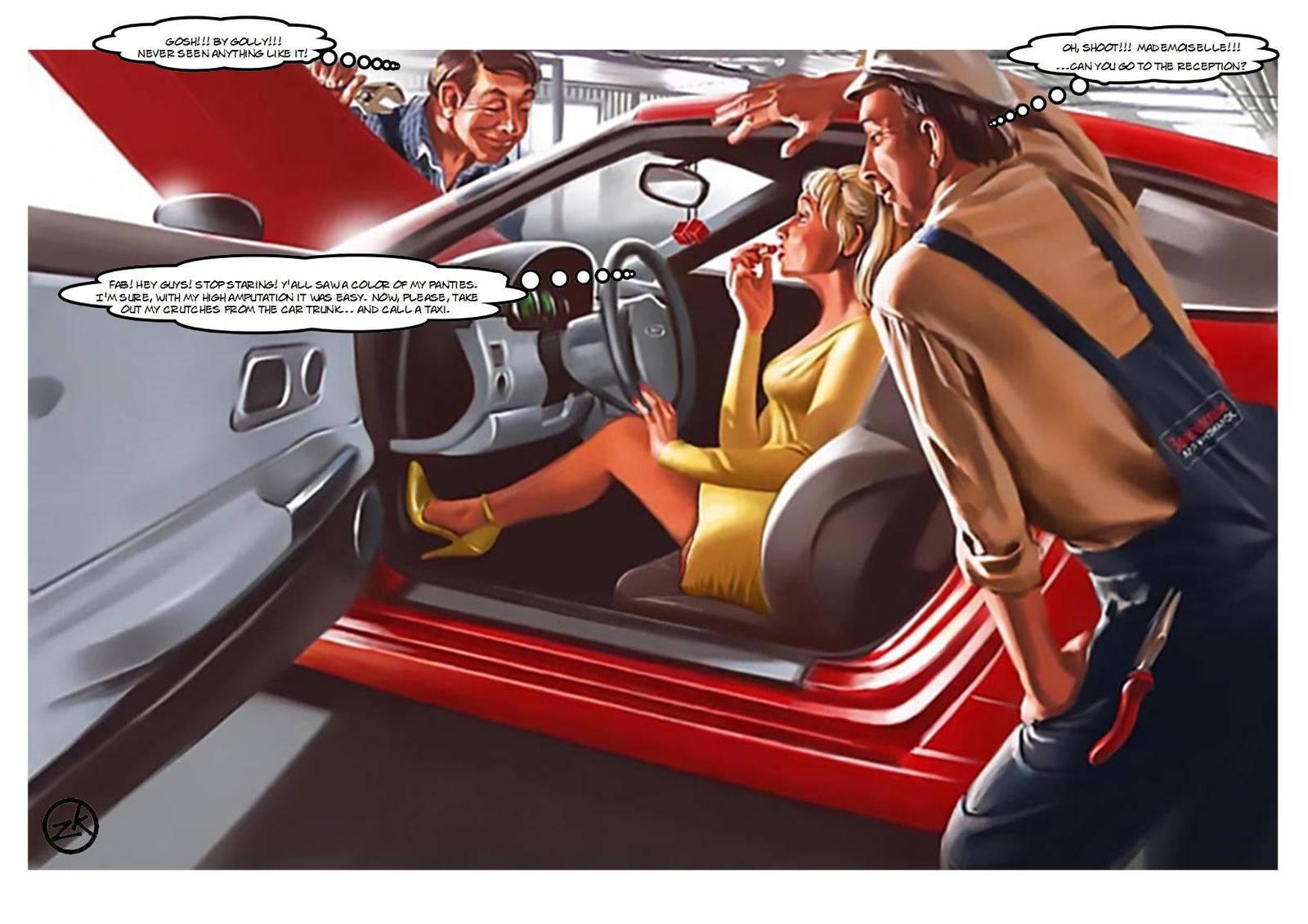 Car Service (Amputee Fantasy With V.Barykin) By Bordoler