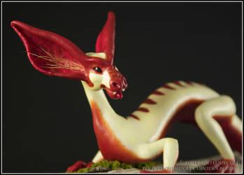 Bat-Eared Sap Dragon Closeup by EirewolfCreations
