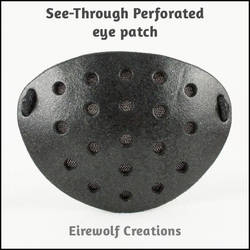 See-Through Perforated eye patch by EirewolfCreations
