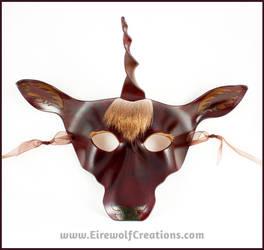 Dark Forest Unicorn mask by EirewolfCreations