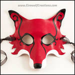 Spiral Fox handmade leather mask by EirewolfCreations