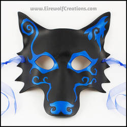 Spiral Wolf handmade leather mask by EirewolfCreations