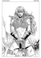 Red Sonja 40 Cover by FabianoNeves