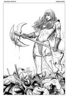 Red Sonja 45 Cover by FabianoNeves