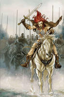 Queen Sonja 19 Cover Colors by FabianoNeves