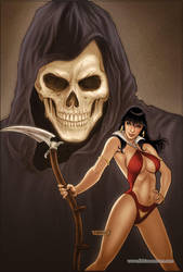 Vampirella Strikes 02 Cover Colors by FabianoNeves