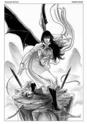 Vampirella 38 Cover inks by FabianoNeves