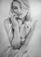 Margot Robbie pencil drawing by SONI068