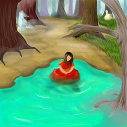 Girl In The Water by RedIzaya