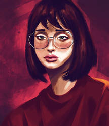 The girl in red by rubenslp