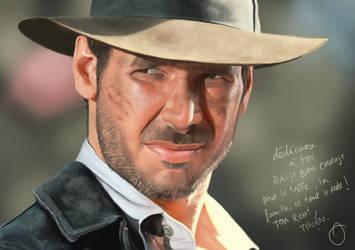 Indiana Jones portrait by anthonyhuynh