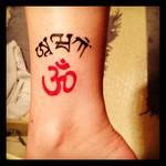 Om Tattoo by ArtByJulia