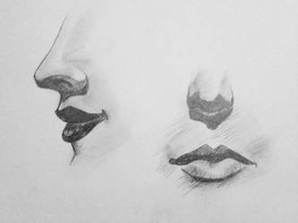 Noses and Mouths- Concentration by ArtByJulia