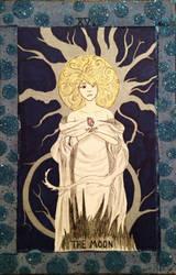 The Moon-Tarot Card by ArtByJulia