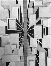 One-Point Perspective Exercise by ArtByJulia