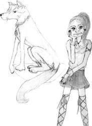 Lupe and Random Girl Sketches by nada-ari