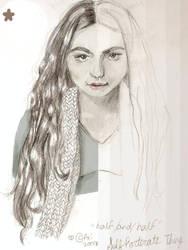Half and Half sketch by nada-ari