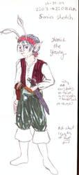 mini anthro pirate aisha lass by nada-ari