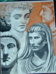 Roman Busts by nada-ari