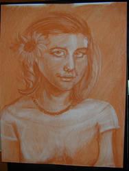 Sepia Self Portrait by nada-ari