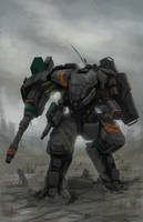 CGMA Mecha Contest Entry(Combat Mech) by ianskie1