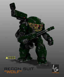 RECON SUIT : WOLF(COMMISSION) by ianskie1