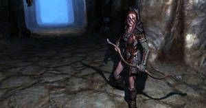 Aela the Huntress by Alkonybestia