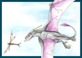 Aerodactyl VS Yanma by AnnaJ