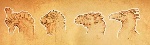 Dragon sketch 01 by Mathieu-Larno