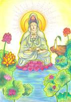 Quan Yin Meditating by Ellysa-van-Vugt