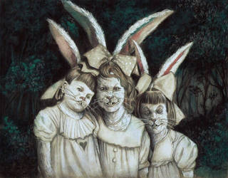 Three Little Rabbits Saying Hello In Your Dreams by tboersner