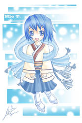 Mio's little chibi colored by space957