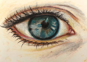 Eye-Oil pastels by IsabelleMaria