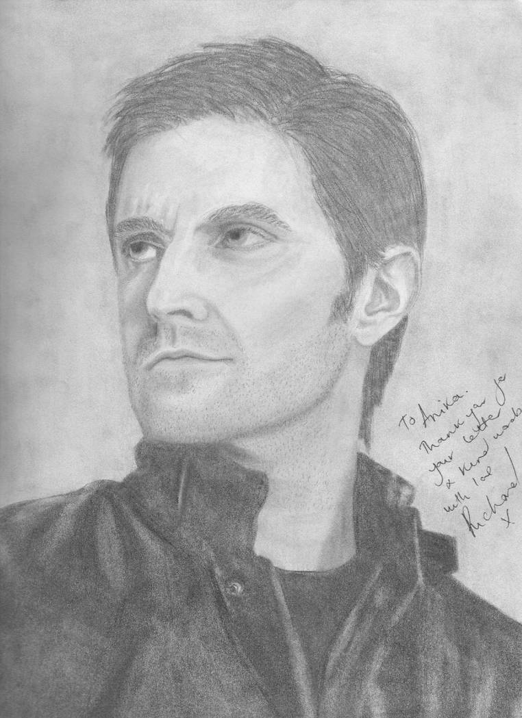 Autographed Richard Armitage Drawing by Darkangel66a