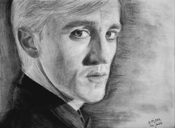 Draco Malfoy Tom Felton Portrait Drawing By Tinibieni94 On Deviantart