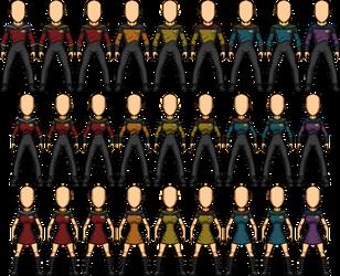 Castaways 2351-2367 Uniforms by SpiderTrekfan616