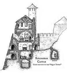 Koldamar Castle - The Squat Tower by Brian-van-Hunsel