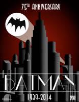 Batman 75th Anniversary by Fantitlan
