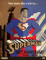 SUPERMAN 80TH ANNIVERSARY by Fantitlan