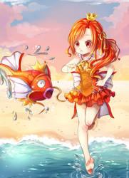 Magikarp and Gijinka by Candy-DanteL